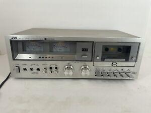Vintage JVC KD-25J Stereo Cassette Deck Silver Japan Tested Works
