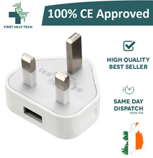100% CE USB UK AC Plug Wall Mains USB Charger For iPhone 4 4s 5 5s 6 6s 7 8 Plus