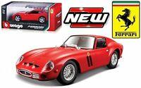 FERRARI 250 GTO 1:24 Scale Diecast Car Model Die Cast Cars Models Miniature Red
