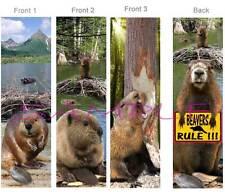 3 Set-BEAVER BOOKMARK Beavers Rule Sign Wild Animal Book Card Figurine Ornament