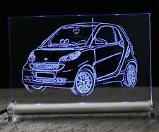 Smart fortwo - als  Auto Gravur auf LED-Leuchtschild