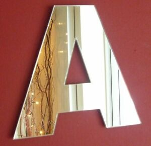 Contemporary Letter A Acrylic Mirror (Several Sizes Available)