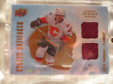 2008-09 UD Artifacts Hockey #FAD-AT Alex Tanguay! Frozen Jersey Calgary Flames