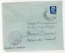 WW 2 Ferramonti Italy Concentration Camp Cover Swiss Red Cross Baruch Deger