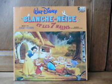 Livre disque vinyle 33 tours Blanche Neige et les 7 nains collection Disneyland