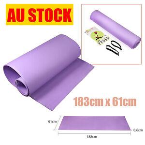 Yoga Mat Fitness Protection Non-Slip Purple  6mm Pilates Fitness Sport Gym Mat