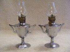 (20) MINIATURE METAL TROPHY CUP AWARD STYLE OIL LAMPS - SET OF 2