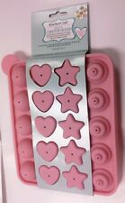 Sweetly Does It Cake Pop 20 Heart Star Round Silicone Cakepop Mould Baking Sheet