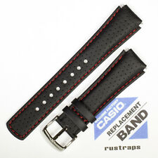 Genuine CASIO black leather watch band for EFA-120L, 10224471