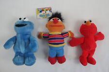 """Tyco Sesame Street Beans Ernie Cookie Monster Elmo Plush Toy Vintage 9"""""""