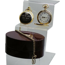 Engraved Wedding Watches Gold Pocket Watch Luxury Free Custom Engraving Best Man