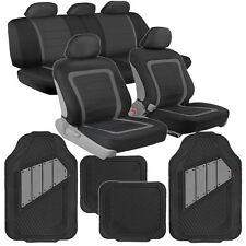 Car Seat Covers & Floor Mats for Auto Black/Gray Two-Tone Mats BDK Motor Trend