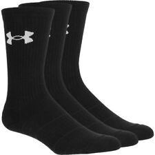 UNDER ARMOUR Men's 6 Pair Crew Performance Heatgear Socks Black Size L $19.99