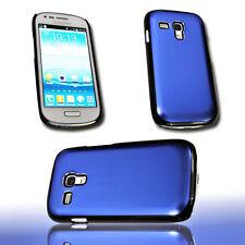 Design Back Cover Alu Blau für Samsung i8190 Galaxy S3 Mini + Displayschutzfolie
