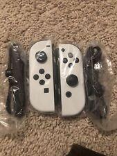 BRAND NEW OEM White Nintendo Switch Joy-cons Joy Con W/ Straps NEW MODEL 2021
