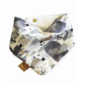 Dribble Bib RASCAL Baby Bandana Adjustable 100% Cotton/Terry Cloth