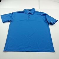 Nike Golf Dri Fit Mens Polo Shirt Size L Large Blue Solid Short Sleeve Jelacos