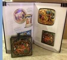 """Russian Papier-Mache Mstera Lacquer Box""""Let's Have a Good Time  """"Signed 1999"""