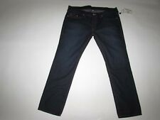 True Religion Mens Skinny No Flaps Jeans Size 44 x 34 NWT Low Rise Lonestar Wash