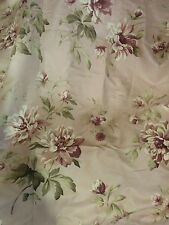 "Tab Top Window Panel Heather Purple Floral by Liz Claiborne 42"" x 84"" (new)"