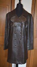 VTG Women's Deerskin Field Jacket Trench Coat 16 NEW ENGLAND SPORTSWEAR NM