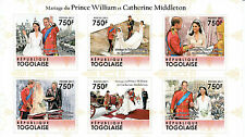 Togo 2011 MNH Royal Wedding 6v M/S Prince William Catherine Middleton Kate