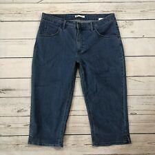 Riders Mid Rise Crop Jeans Size 12M Womens Capris Stretch Denim Medium Wash