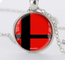 NEW Super Smash Bros Ball red and Black silver necklace for women men Jewelry