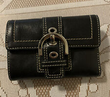 Coach Small Black Leather Wallet Cute!