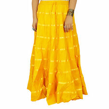 Beach Wear Cotton Skirt Long Maxi Boho Hippie Lace Women Indian Clothing 5266