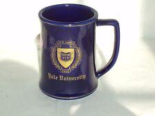 Yale University Stein Mug Ceramic Cobalt Blue Gold Trim Ivy League College