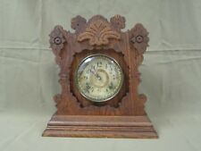 "ANTIQUE ANSONIA ""PERTH"". 8 DAY CHIMING GINGERBREAD MANTLE SHELF CLOCK WORKS WELL"
