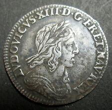 1/12 D'ECU 3° Type  Monnaie de Matignon 1743 A (Paris) - LOUIS XIII