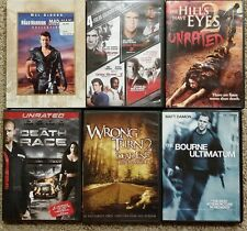 Lethal Weapon (4 )/Death Race/Hills Have Eyes/Bourne Ultimatum/Road Warrior DVDs