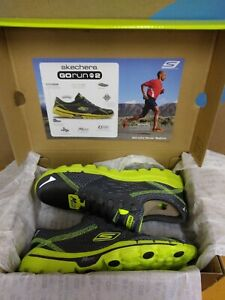 NEW Rare 2012 Skechers Go Run 2 Mens Running Shoes Charcoal Lime Size 6.5 E8