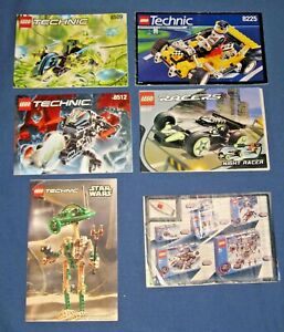 Lot Lego TECHNIC STAR WARS Building Instruction Manuals Book 8000 8225 8509 8647