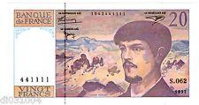 France Billet 20 FRANCS DEBUSSY 1997 N°441111  S.062 NEUF UNC