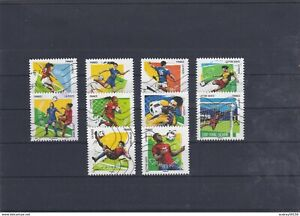 FRANCE 2016 FOOTBALL VOS 10 GESTES PREFERES SERIE COMPLETE 10 TIMBRES OBLITERES