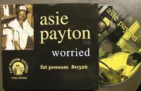 "ASIE PAYTON ""WORRIED"" - CD - DIGI PACK - FAT POSSUM RECORDS"