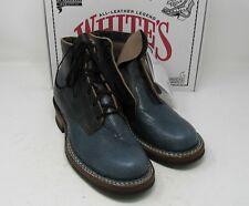 """Whites Boots, 2332 Semi dress. Black/ Blue Bull ,10 D, 5.5"""""""