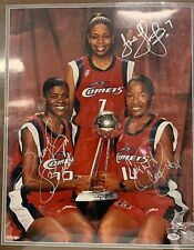 Swoopes/Thompson/Cooper Signed 16X20 Photo PSA/DNA