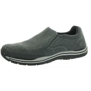 Skechers Mens Expected-Gomel Gray Slip On Sneakers Shoes 12 Medium (D) BHFO 0322