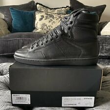 Saint Laurent SL10 Black Perforated Sneakers - Size 41