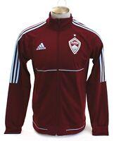 Adidas MLS Colorado Rapids Burgundy Zip Front Track Jacket Men's NWT