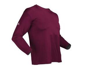 Easton Spirit Long Sleeve Maroon Baseball Jersey Size Lg. Bio-Dri UV Protection