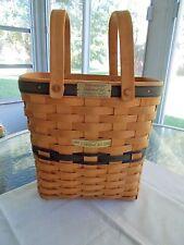 "Longaberger Collector's Club Membership Basket 1996 Charter Member 1997 10"""
