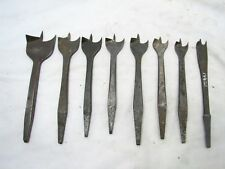 Lot 8 Graduated Center Point Brace Drill Bits Batwing Bat Wing Antique tool