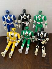 Lot of 6 Bandai Mighty Morphin Power Rangers Flip Head Figures 1993 Saban