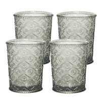 Cameo Double Old Fashioned Glass, Tumbler, cap 7.5 oz, Smoke Gray, set of 4