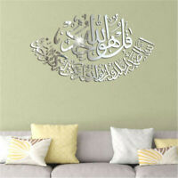 3D Acrylic Muslim Mirror Wall Sticker Removable Home Room Wall Decal Decor DIY